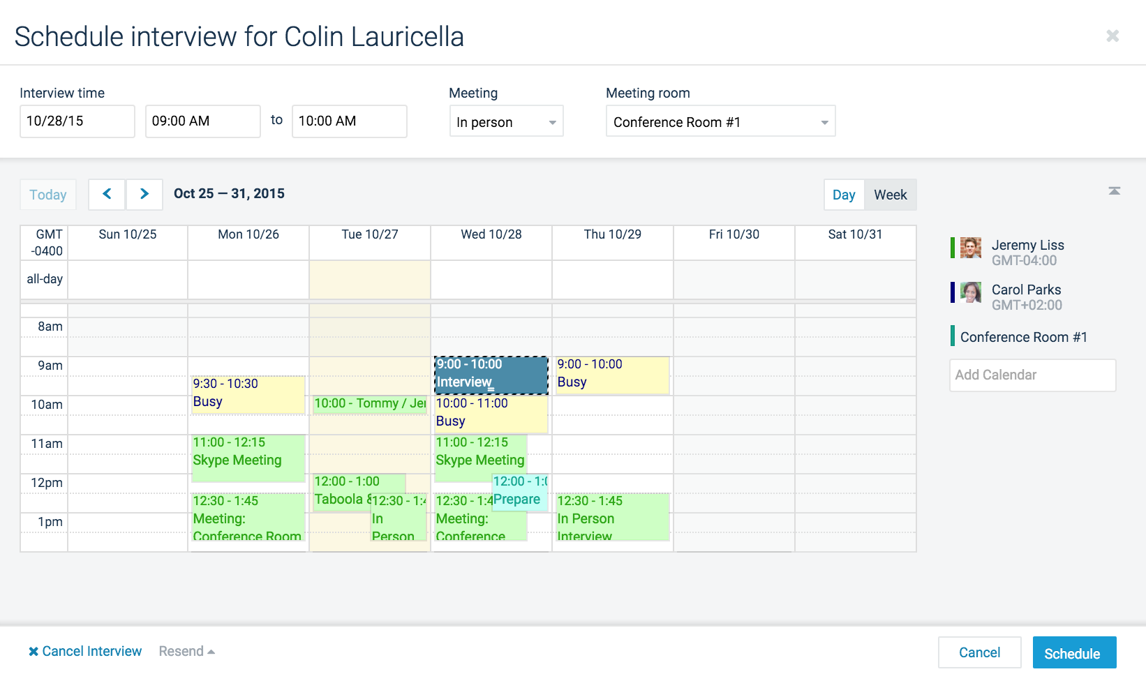 Applicant Tracking System-Group Scheduling