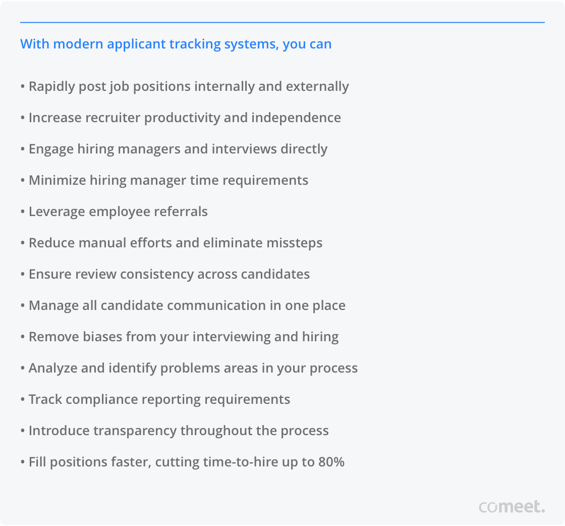 Benefits of Modern Applicant Tracking Systems